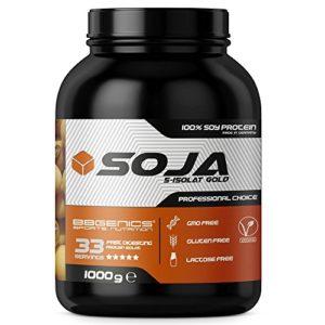 Soja Isolate GOLD – (100% végétalien protéines de soja naturel, lactose, protéine naturelle isolée), 1000g chocolat