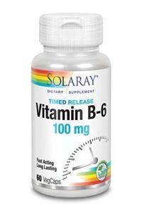 SOLARAY – VIT. B6 100 mg. 60CAP. SOLARAY