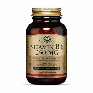 Solgar Vitamin B6 250 mg Vegetable Capsules, 100 V Caps 250 mg