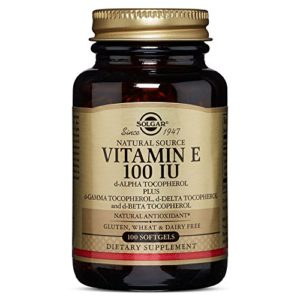 Solgar Vitamin E 100 IU Mixed Softgels (d-Alpha Tocopherol and Mixed Tocopherols), 100 S Gels 100 IU