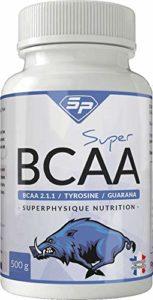 Super BCAA : booster d'entraînement sportif et musculation (4 mois d'utilisation, façonné en France). Convient aux végétariens.