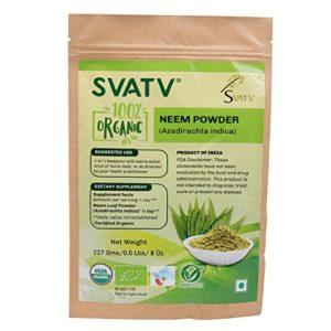 SVATV Poudre de Neem (Azadirachta Indica) 1/2 LB, 08 oz, 227g USDA Certifié