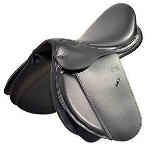 Tekna Club Sattel, glatt, schwarz, 17.5″