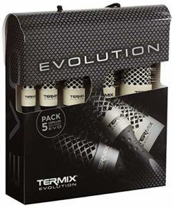 Termix Evolution Soft MLT-EVO5S Pack de 5 brosses – Diam. 17/23/28/32/43 mm