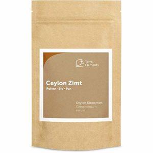Terra Elements Cannelle de Ceylan bio en poudre 200 g I 100% pure I vegan I qualité crue