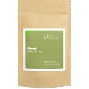 Terra Elements Neem bio en poudre 100 g I 100% pure I vegan I qualité crue