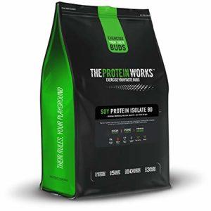 THE PROTEIN WORKS Isolat Protéine de Soja 90, Nature, 2kg