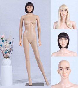 Tonhan YF1 Mannequin de vitrine avec 2 Perruques