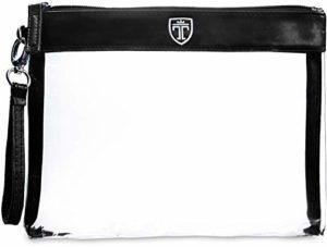 TRAVANDO ® Trousse de Toilette Transparente | Kit de Voyage 1l pour l'Avion | Format Idéal pour les Contenants de Liquides dans Bagages à Main | Sac Cosmétiques | Set de Voyage pour Hommes et Femmes