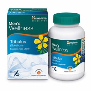 Tribulus Terestris Testosterone Booster For Men – Improves Reproductive Health And Virility – 60 Vegetarian Capsules By Himalaya (Since 1930)