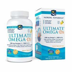 Ultimate Omega-D3, Lemon, 120 Soft Gels – Nordic Naturals