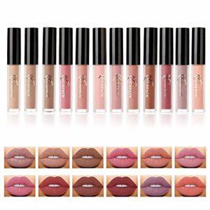 Valuemakers Matte Lipstick 12 couleurs mat Nude Lip Gloss Rouge à lèvres Liquid Foundation Lèvre Maquillage cosmétique
