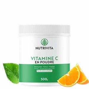 Vitamine C en poudre – Acide L(+) Ascorbique – Pot 500g | Nutrivita