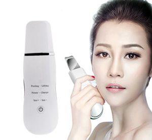 VOUMEY Ultrasons Visage Cleaner Dispositif Blackhead Removal Machine Visage Exfoliant Nettoyage Instrument Pore Cleaner (blanc)