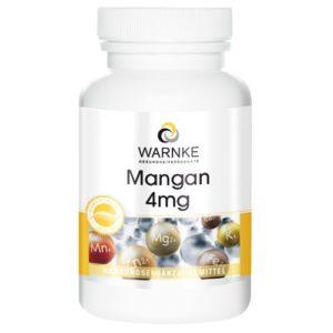 Warnke Vitalstoffe Manganèse 4 mg du gluconate de maganèse, végétarien, 1 boite (1 x 25 g)