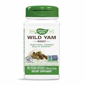 Wild Yam, Racine, 425 mg, 100 Capsules – Nature Way