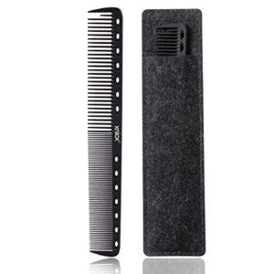 xnicx 605 noir carbone peigne de coupe 100% antistatique jusqu'à 230 ℃ résistant à la chaleur professional styling peigne, peigne de coupe de cheveux salon, coiffeur coiffure peigne de barbier