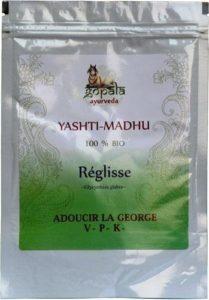 YASTIMADHU -réglisse- (Glycyrrhiza glabra) BIO en poudre (250g) – Plante Ayurvédique Traditionnelle pour adoucir la gorge