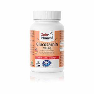 ZeinPharma Glucosamine 500 mg, 90 gélules – Pure et Manganèse, Lot de 1 Paquet (1 x 53 g)