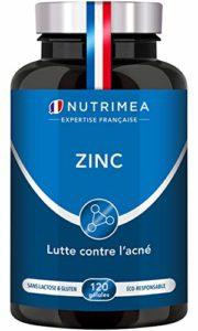 ZINC Citrate 40 mg ♦ Biodisponibilité maximale ♦ Fabrication FRANCAISE Vegan ♦ Cheveux, peau (acné), antioxydant, contre le rhume ♦ 120 gélules 4 mois de cure
