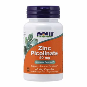 Zinc picolinate 50 mg – 60 gelules – Now foods