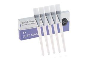 5 x Pinceau Masque Visage, Brosses de masque visage – Pinceaux synthétiques molles brosse pour d'application facial boue (qualité professionnelle)
