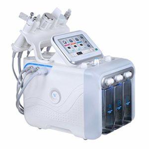 6 en 1 machine de dermabrasion de l'eau, petit instrument de beauté de bulle d'oxygène d'hydrogène, machine de nettoyage faciale de nettoyage d'instrument de comédien