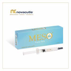 Acide hyaluronique non réticulé MESO Pure HA (15 mg/ml) pour les traitements de microneedling et de mésothérapie. Un complexe d'acides hyaluroniques de poids moléculaire différent (1×2,5 ml)