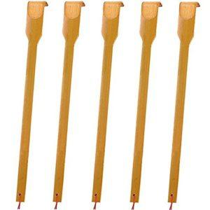 Bambou Dos en bois Scratchers, 17 en, Lot de 5, le meilleur pour les femmes enceintes et des personnes qui ont besoin Plus mains, Lancer des Soulagemen