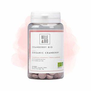 Belle&Bio – Cranberry Bio – 120 comprimés – 360 mg/jour – Confort féminin – Certifié Bio par Ecocert – Fabriqué en France