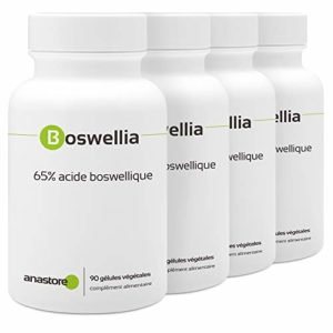 BOSWELLIA PACK 3+1 GRATUIT | 100% naturel | Titré à 80% en acide boswellique * 300 mg / 360 gélules végétales | Anti-inflammatoire naturel puissant | Qualité contrôlée par certificat d'analyse