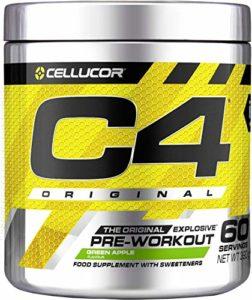 Cellucor – Poudre pré-entraînement C4 Original Explosive – pomme verte – 60 portions