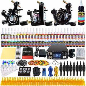 Coeffort Kit de Machine à tatouer Professionnelle Ensembles de Kits de Machine à tatouer Liner Shader pour Machines