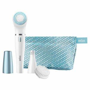 Coffret cadeau Braun Face 832-e en édition limitée : brosse nettoyante visage et épilateur visage avec trois accessoires