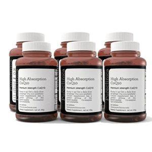 CoQ10 300mg x 540 comprimés (6 bouteilles de 90 comprimés chacune – Quantité pour 18 mois) avec de la vitamine C et de l'extrait de poivre noir. REF : CQ3x6