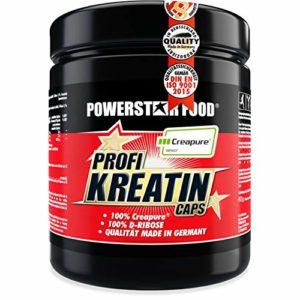 Créatine monohydrate à haute dose – 500 gélules – 100% de pureté Creapure® plus D-ribose, une combinaison très prisée des sportifs de compétition/de fabrication allemande