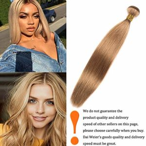 Dai Weier Meche Bresiliennes Honey Blonde 27 Silky Shine Tissage Straight 100% Remy Cheveux Humaines Weft Extensions 12 Pouces