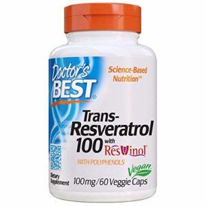 Doctor's Best, Best Resveratrol 100 avec ResVinol-25, 100 mg, 60 Capsules végétales