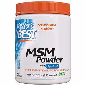 Doctor's Best | Poudre MSM avec OptiMSM | 8,8 oz (250 g) | Végane | sans gluten | sans soja