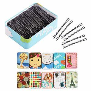 EQLEF épingles à Cheveux- Pinces Chignon discrète Noir- 150 pièces dans Une boîte