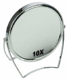 Fantasia Miroir grossissant x 10 en métal Argenté