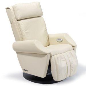 Fauteuil de massage en cuir beige keyton classe de massage