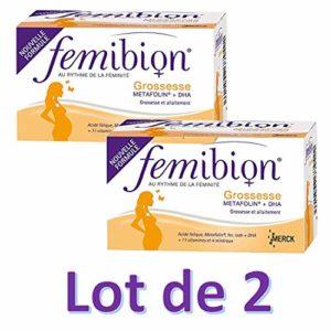 Femibion Grossesse Metafolin + DHA 30 Comprimés + 30 Capsules lot de 2 boîtes