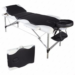 Finewen Table de Massage Pliante de 84  », lit de beauté pour Le Visage, lit de Spa Portable, Confortable et Ajustable, pour Salon de Tatouage pour Le Visage, Spa de beauté, Salon de physiothérapie
