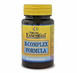 Formule B complexe 500 mg. 30 perles contenant les vitamines C, E, B-1, B-2, B-3, B-5, B-6, B-9, B-12 et la biotine