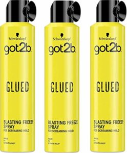 got2b adhésif en aérosol FREEZE spray cheveux, 3er Pack (3 x 300 ml)