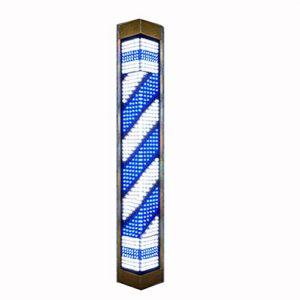 GXJ Barber Pole LED avec télécommande, Bandes de Rotation LED Bleues et Blanches pour Signe Ouvert de Coiffeur Salon de Coiffure