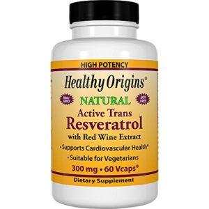 Healthy Origins, Resvératrol, Très puissant, 300 mg, 60 Capsules végétales