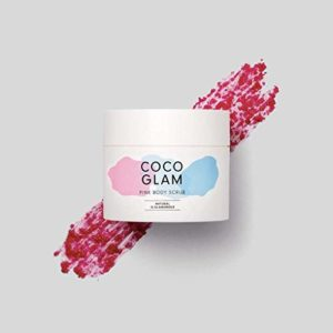 HelloBody Coco Glam Pink Body Scrub (200g) – gommage corps végan pour peaux sèches – peeling corps et visage naturel – soin du corps parfum coco