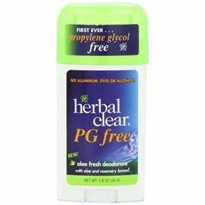 Herbal Clear DEOD Stk, Aloe frais, sans PG, 1,8 OZ (2 pièces)